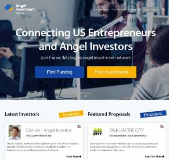 Online platform for connecting entrepreneur and investors in USA